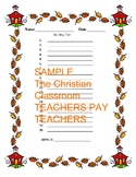 Lined Spelling Test Paper with Border Prenumber 1 through 20