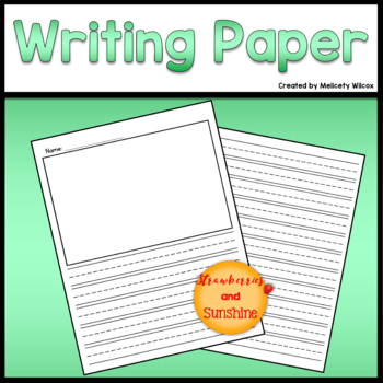 Lined Vertical Writing Paper FREEBIE!