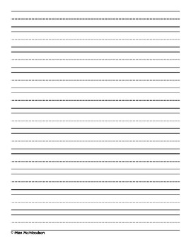 Lined Writing Page With Drawing Space