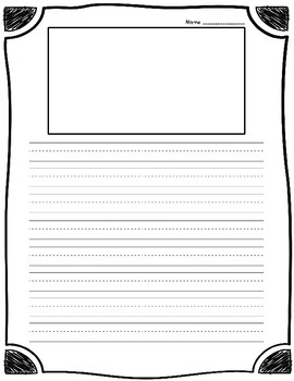 Lined Writing Pages - FUN!