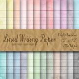 Lined Writing Paper Digital Paper Pack-Large Lined Paper-8.5x11 and 12x12 Sizes