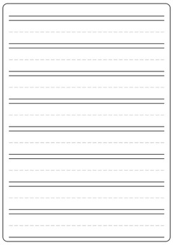 Lined Writing Paper (FREE) A4 Sized