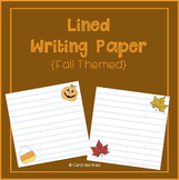 Lined Writing Paper {Fall Themed}