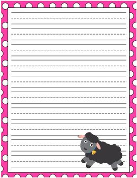 Lined Writing Paper Farm Pack Set of 6