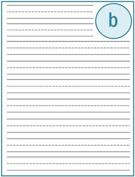 """Writing Lined Paper Personalized Boy """"B"""""""