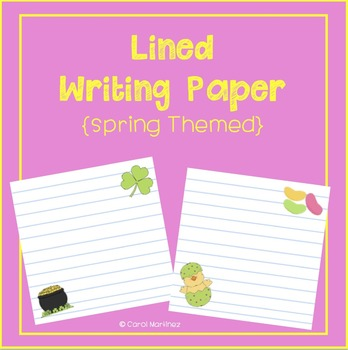 Lined Writing Paper {Spring Themed}