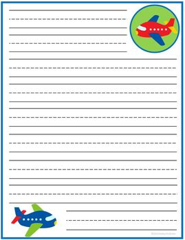 Lined Writing Paper Transportation Set of 5
