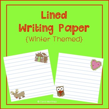 Lined Writing Paper {Winter Holidays Themed}