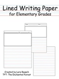 Lined Writing Paper for Elementary Grades