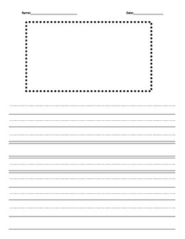 Lined Writing Paper for K-2