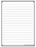 Lined Writing Paper with Dots