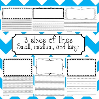 Lined Writing Paper with Drawing Boxes Part 2
