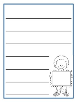 Chatty Kid, Poster Board Kids writing paper