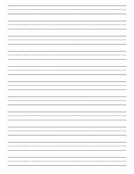 Lined Writing Paper with Picture Box