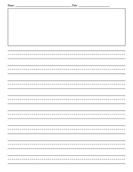 Free Printable Writing Paper With Drawing Box