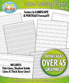 Lined Writing Papers Clipart Set — Over 45 Graphics!