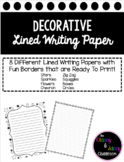 Lined Writing Papers with Borders