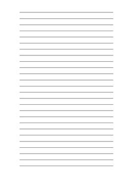 Lined Writing Sheet