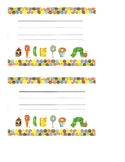Lined and Editable Eric Carle Inspired Name Tags