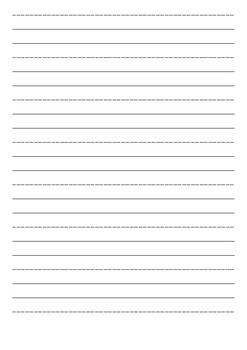 Lined handwriting paper 12mm Portrait.