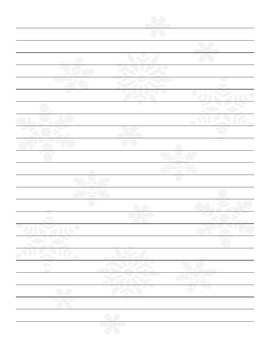 Lined paper with snowflake watermark
