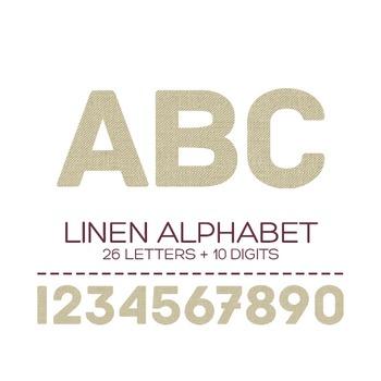 Linen Digital Alphabet - F00004