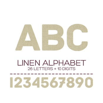 Linen Digital Alphabet - F00004