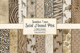 Linen Animal Print digital paper, seamless animal skins te