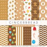 Gingerbread Man Seamless Digital Paper, scrapbook backgrounds