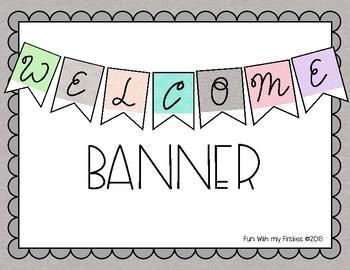 Linen Welcome Banner