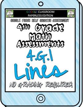 Lines - 4.G.1 Self Grading Assessment Google Forms
