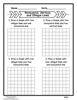 Lines Activity Bundle- CCSS 4.G.A.1
