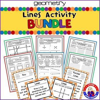 Lines Activity Bundle- CCSS 4.G.A.1
