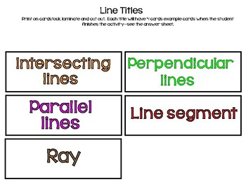 Lines And Angles: A FUN Match-Up!