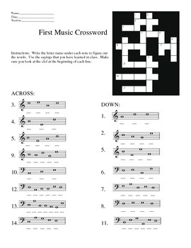 Lines and Spaces Worksheets--Musical Code