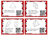 Lines, Angles, & 3D Shapes Task Cards with QR Codes