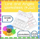 Lines & Angles - Geometry Worksheet (4.G.1)