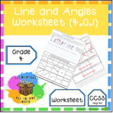 Lines & Angles - Geometry Worksheet (4.G.1)