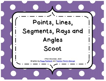 Lines, Angles, Points & Rays Scoot