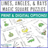 Lines Angles & Rays Magic Square Puzzles Math Center Game