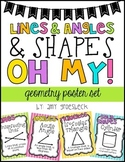 Lines & Angles & Shapes! Oh My! – Geometry Poster Set