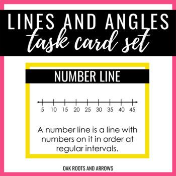 Lines & Angles Task Card Set