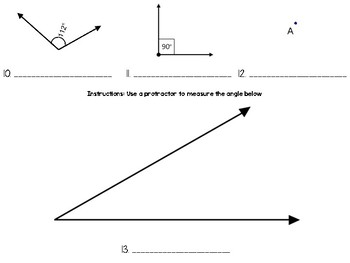 Lines, Angles, Triangles Math Quiz