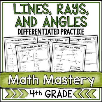Lines, Angles, and Rays Worksheets