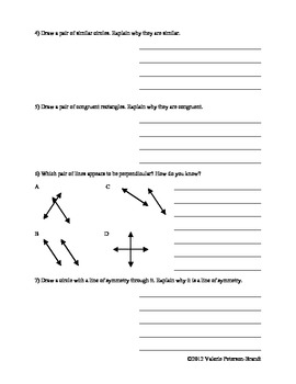 Lines, Congruency, and Similarity Class Work