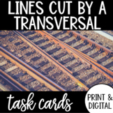 Parallel Lines Cut by a Transversal Task Cards & Google Form DISTANCE LEARNING