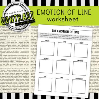 Lines Express Emotion - Worksheet Printable for Art 1 or M