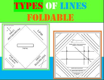 Lines Interactive Notebook Foldable Graphic Organizer