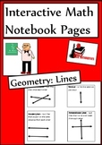 Lines Lesson for Interactive Math Notebooks