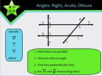 Lines, Rays, & Angles